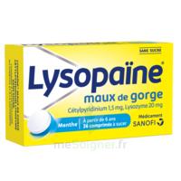 LysopaÏne Comprimés à Sucer Maux De Gorge Sans Sucre 2t/18 à BOUC-BEL-AIR