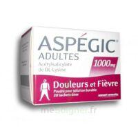 Aspegic Adultes 1000 Mg, Poudre Pour Solution Buvable En Sachet-dose 20 à BOUC-BEL-AIR