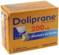 Doliprane 200 Mg Poudre Pour Solution Buvable En Sachet-dose B/12 à BOUC-BEL-AIR