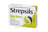 Strepsils Citron Sans Sucre, Pastille édulcorée à L'isomalt, Au Maltitol Et à La Saccharine Sodique à BOUC-BEL-AIR