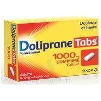 DOLIPRANETABS 1000 mg Comprimés pelliculés Plq/8 à BOUC-BEL-AIR