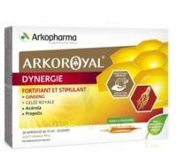Arkoroyal Dynergie Ginseng Gelée royale Propolis Solution buvable 20 Ampoules/10ml à BOUC-BEL-AIR