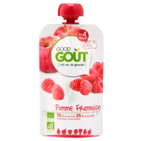 Good Goût Alimentation Infantile Pomme Framboise Gourde/120g à BOUC-BEL-AIR