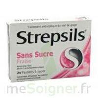 STREPSILS FRAISE SANS SUCRE, pastille édulcorée à l'isomalt, au maltitol et à la saccharine sodique à BOUC-BEL-AIR