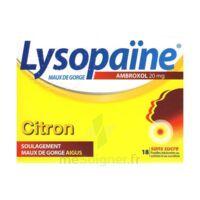 LysopaÏne Ambroxol 20 Mg Pastilles Maux De Gorge Sans Sucre Citron Plq/18 à BOUC-BEL-AIR