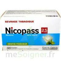 Nicopass 2,5 Mg Pastille Menthe Fraîcheur Sans Sucre Plq/96 à BOUC-BEL-AIR