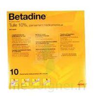 Betadine Tulle 10 % Pans Méd 10x10cm 10sach/1 à BOUC-BEL-AIR