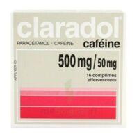 Claradol Cafeine 500 Mg/50 Mg, Comprimé Effervescent à BOUC-BEL-AIR