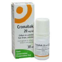 Cromabak 20 Mg/ml, Collyre En Solution à BOUC-BEL-AIR