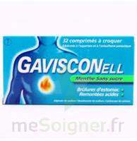 Gavisconell Coprimés à Croquer Sans Sucre Menthe édulcoré à L'aspartam Et à L'acésulfame Potas Plq/24 à BOUC-BEL-AIR