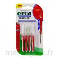 GUM TRAV - LER, 0,8 mm, manche rouge , blister 4 à BOUC-BEL-AIR