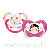 Dodie Duo Sucette Anatomique Silicone +18mois Girly à BOUC-BEL-AIR