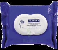 Klorane Soins des Yeux au Bleuet Lingette démaquillante biodégradable Pack/25 à BOUC-BEL-AIR
