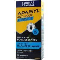 Apaisyl Anti-poux Xpress 15' Lotion Antipoux Et Lente 100ml+peigne à BOUC-BEL-AIR