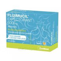 FLUIMUCIL EXPECTORANT ACETYLCYSTEINE 600 mg Glé s buv adultes 10Sach à BOUC-BEL-AIR