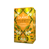 Pukka Bio Citron, Gingembre Et Miel De Manuka Tisane Immunité Citron Gingembre Miel De Manuka 20 Sachets à BOUC-BEL-AIR