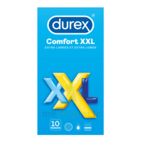 Durex Comfort Xxl Préservatif Lubrifié B/10 à BOUC-BEL-AIR