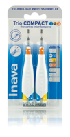 Inava Brossettes Trio Compact Mixte 123 Bleu 0,8mm/ Jaune 1mm/ Orange 1,2mm à BOUC-BEL-AIR